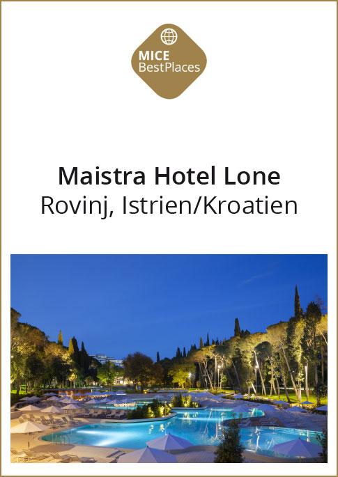 Maistra hotel lone kroatien mice best places for Kroatien designhotel